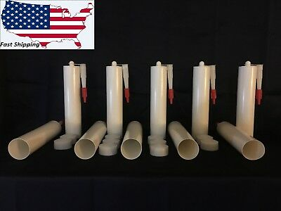 Fifty - Empty Fillable Caulking Tube/Cartridge 10oz HDPE