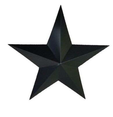 "24"" Handmade Wrought Iron Metal Barn Star Antique Plaque Art Wall Minor Defect"