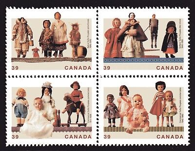 1990 Canada SC# 1277a Cultural Treasures Dolls Block of 4 Stamps Lot# A47 M-NH