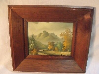 "Antique Thomas E ""G"" Rooney American Master Landscape 8"" By 10"" Oil Painting"