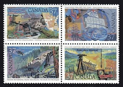 1988 Canada SC# 1202a Exploration of Canada-3 Block of 4 Stamps Lot# A35 M-NH