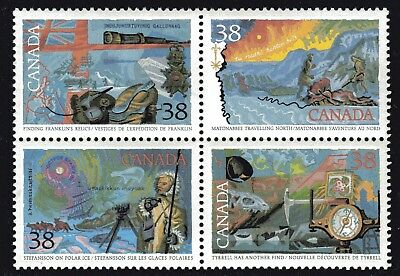 1989 Canada SC# 1236a Exploration of Canada-4 Block of 4 Stamps Lot# A41 M-NH