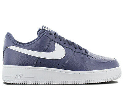 buy popular 075f8 324e1 Nike Air Force 1 une Low 07 Baskets   Chaussures Homme Aa4083-401 Cuir Bleu