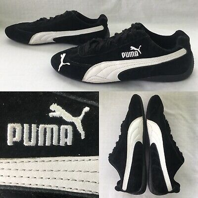 best sneakers 5718c 1c749 PUMA Speed Cat Men s 8.5 Black   White Suede Leather Flat Sole Sneakers  Shoes