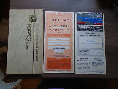 1969 Cadillac Owner's Manual + Warranty & Warranty Protect-o-plate