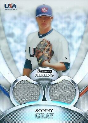 2010 Bowman Sterling USA #USAR-29 Patch 02/199 Sonny Gray Reds MLB