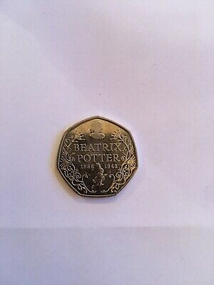 Beatrix Potter 150th Anniversary 50p fifty pence coin 2016