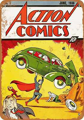 Metal Sign - Action Comics #1 - Vintage Look Reproduction