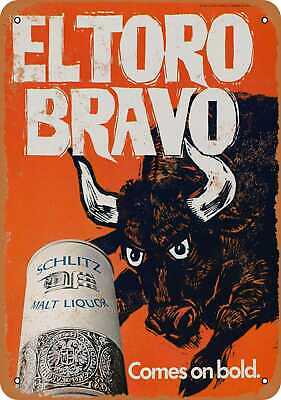 Metal Sign - 1969 Schlitz Malt Liquor Bull - Vintage Look Reproduction