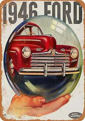 Metal Sign - 1946 Ford - Vintage Look Reproduction