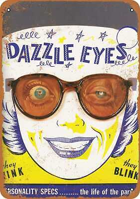Metal Sign - 1968 Dazzle Eyes Personality Specs - Vintage Look Reproduction