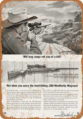Metal Sign - 1963 Weatherby .300 Magnum Rifles - Vintage Look Reproduction