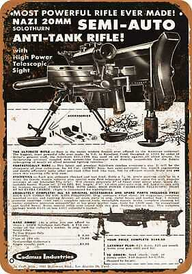 Metal Sign - 1958 20mm Anti-Tank Rifle - Vintage Look Reproduction