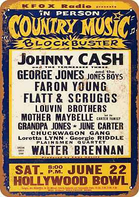 Metal Sign - 1963 Johnny Cash - Vintage Look Reproduction