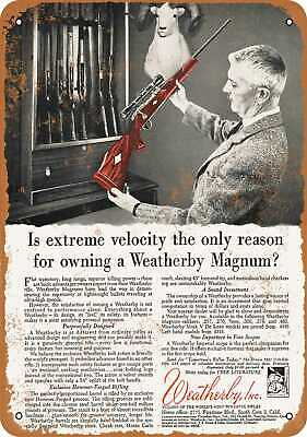 Metal Sign - 1961 Weatherby Magnum Rifles - Vintage Look Reproduction