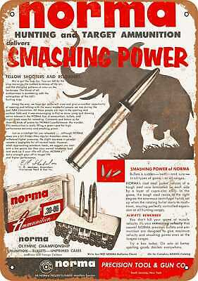 Metal Sign - 1955 Norma Ammunition - Vintage Look Reproduction