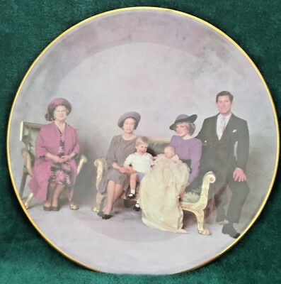 Queen Mother, Prince Charles & Princess Diana Bone China Plate, Four Generations
