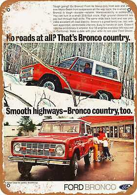 Metal Sign - 1972 Ford Bronco - Vintage Look Reproduction