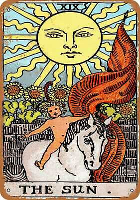 Metal Sign - Major Arcana - The Sun - Vintage Look Reproduction