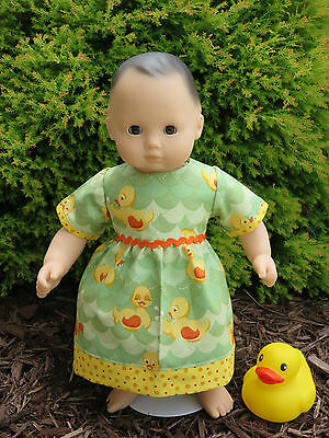 """Handmade Clothes for/fits AG Bitty Baby or Twins Doll - """"Quack"""" Duck Dress Set"""
