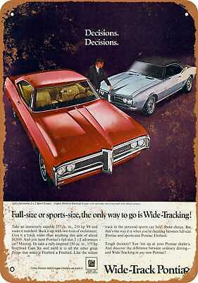 Metal Sign - 1968 Pontiac Parisienne and Firebird - Vintage Look Reproduction