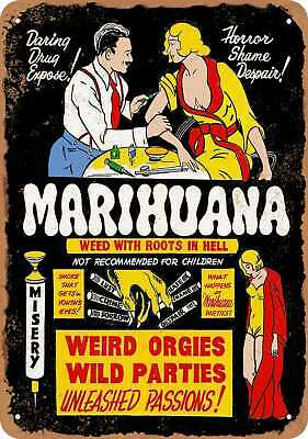 CANNABIS MARIHUANA MARIJUANA POSTKARTE POSTCARD # 72 WEED WITH ROOTS IN HELL