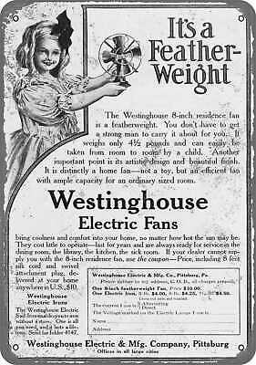"""1950 WESTINGHOUSE Christmas Lights Santa Clause Repro Metal Sign 9x12/"""" 60499"""