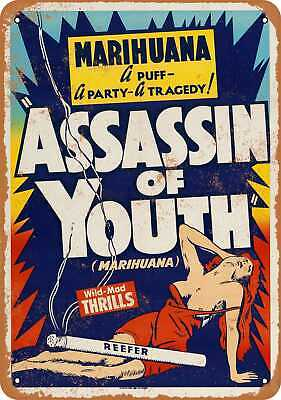 Metal Sign - 1937 Marijuana Assassin of Youth - Vintage Look Reproduction