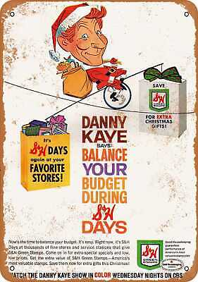 Metal Sign - 1965 Danny Kaye for S&H Green Stamps - Vintage Look Reproduction