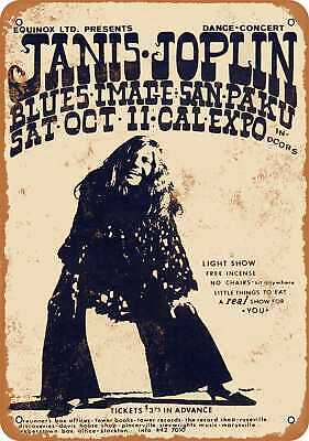 Metal Sign - 1969 Janis Joplin at Cal Expo - Vintage Look Reproduction