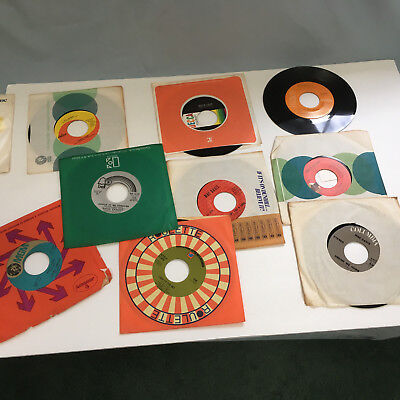 vintage singles 45 RPM vinyl records  40 mixed artist lot Rod Stewart Bee Gees