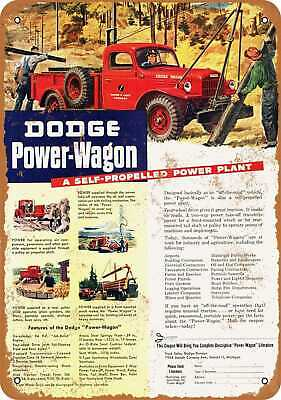 Metal Sign - 1946 Dodge Power-Wagon - Vintage Look Reproduction