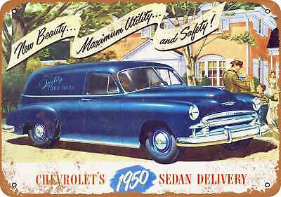 Metal Sign - 1950 Chevrolet Sedan Delivery - Vintage Look Reproduction