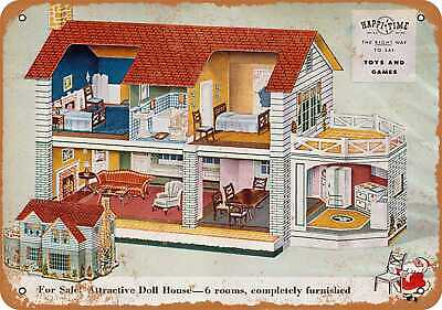 Metal Sign - 1946 Doll House and Furniture - Vintage Look Reproduction