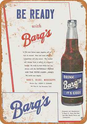 Metal Sign - 1946 Barq's Root Beer - Vintage Look Reproduction
