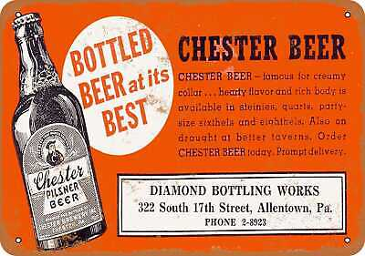 Metal Sign - 1933 Chester Beer - Vintage Look Reproduction