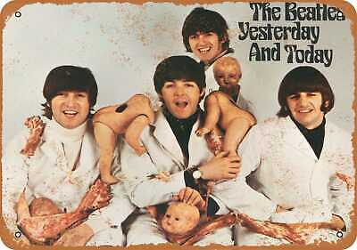 Metal Sign - 1966 The Beatles Butcher Cover - Vintage Look Reproduction