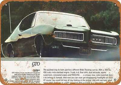Metal Sign - 1968 Pontiac GTO - Vintage Look Reproduction 5