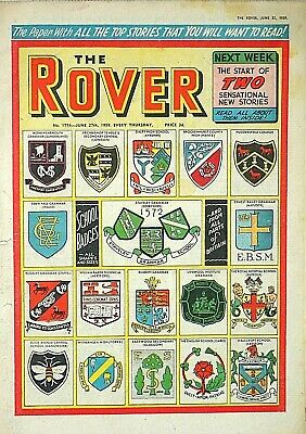 ROVER - 27th JUNE 1959 (25 June - 1 July) RARE 60th BIRTHDAY GIFT !! dandy eagle