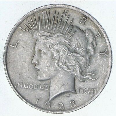 Early - 1923 - Peace Silver Dollar - 90% US Coin *951
