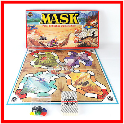 Mask Board Game Parker Brothers Raid and Rescue Game Vintage Super Vehicles