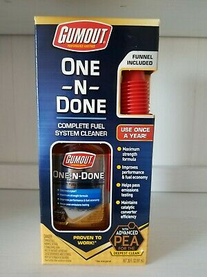 Gumout PEA One N Done Complete Vehicle Fuel System Cleaner Improves MPG and