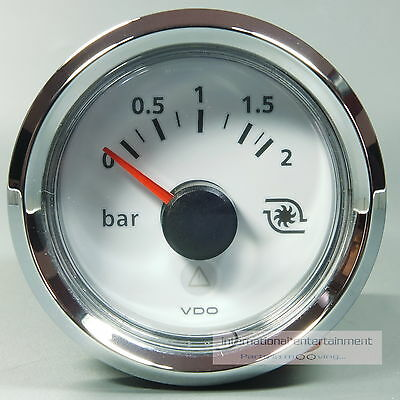 VDO VIEWLINE  MANOMETER  LADEDRUCK DRUCKANZEIGER PRESSURE GAUGE 2bar 12V  Chrom