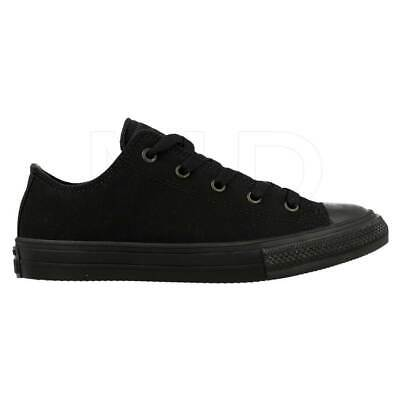 Converse Youth Unisex Chuck Taylor All Star Black//White #3J235 J13AB m NEW