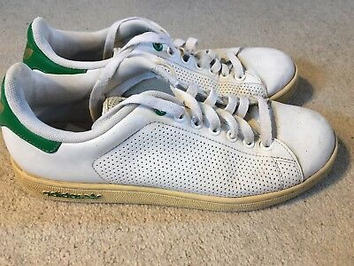 lowest price f992c bd0c7 Adidas Stan Smith Lea vintage (2008) men s trainers in white - size 7
