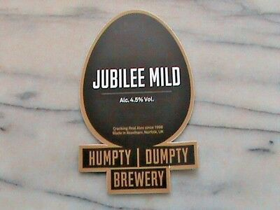 Humpty Dumpty Jubilee Mild real ale beer pump clip sign