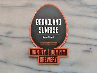 Humpty Dumpty Broadland Sunrise real ale beer pump clip sign