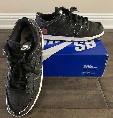 detailed look 33d9e 74601 Nike Dunk SB Low Custom Black Denim (Size 11)