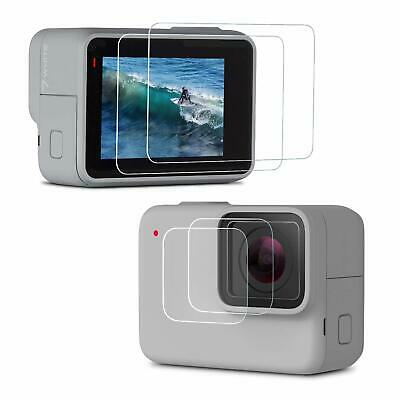 Rhodesy Screen Protector For Gopro HERO7 Silver/White Upgraded Tempered Glass