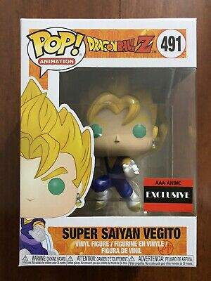 Funko Pop! Animation Dragon Ball Z Super Saiyan Vegito AAA Anime Exclusive